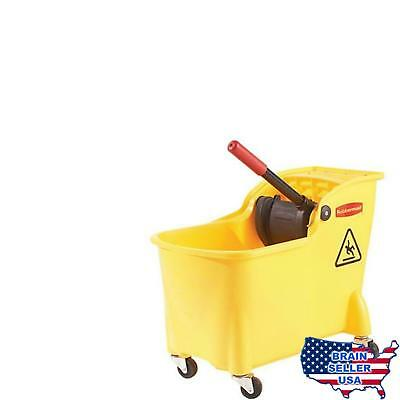 Rubbermaid Professional Plus Commercial Wringer Mop Bucket 28 q... Free Shipping