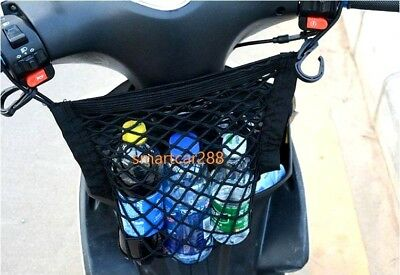 Bicycle Motorcycle Hold Down Helmet Cargo Luggage Mesh Net Bag Nylon Hook