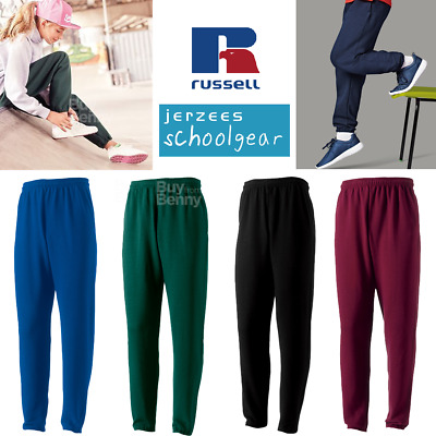 Russell Kids Jog Pants Tracksuit Bottoms Sweat Comfort Trousers Boys Girls Pe