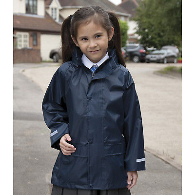 Result Core Kids Junior Stormdri Over Jacket Kids Waterproof Polyester Snowsuits