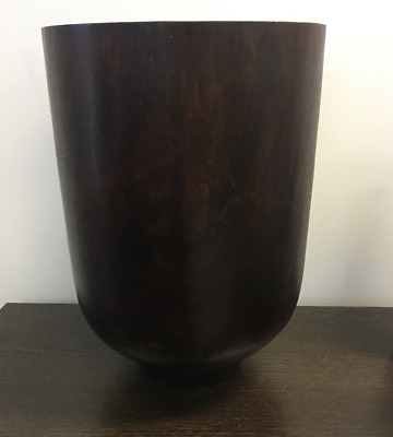 Country Road Solid Timber Brand New vase 30cm high dark brown opening 20cm