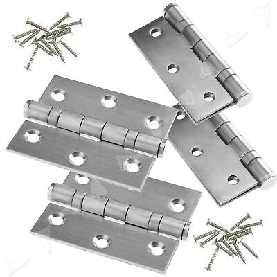 "Kit of 4 pcs 3"" Double Ball Bearing Butt Door Hinge Fire Rated Stainless Steel"