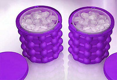 Ice Cube Maker Eiswürfelformen The Space Saving Ice Genie Beer Freezer Purple