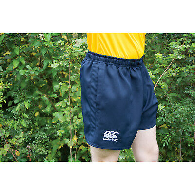 Canterbury Professional Kids Shorts Children Elasticated Sports Poly Twill Rugby