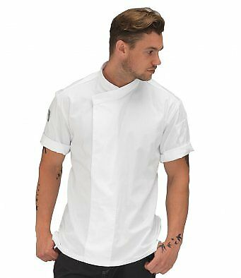 Le Chef Short Sleeve Academy Tunic Twin Needle Stitching Chefs Sleeves Jacket