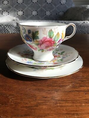 Vintage Paragon Bone China Trio Cup Plate and Saucer Set
