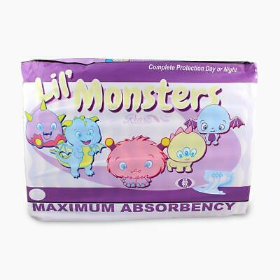 Adult Nappy / Diaper Rearz Lil' Monsters - Large - Pack of 12