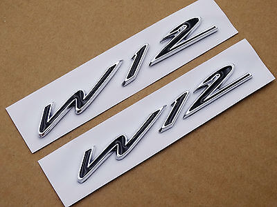 Metal Wing W12 Emblem Badge Sticker For Bentley Genuing Continental GT GTC UE
