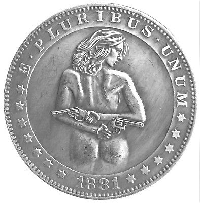 Concealed Carry Guns & Buns Morgan Dollar Heads & Tails Good Luck Challenge Coin