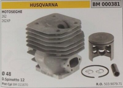503907971 Cylinder And Piston Complete Chainsaw Husqvarna 262 262Xp Ø 48