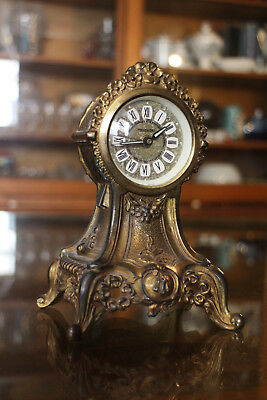 clock Mercedes metal early 20e style Transition Louis 15 Louis 16 clock