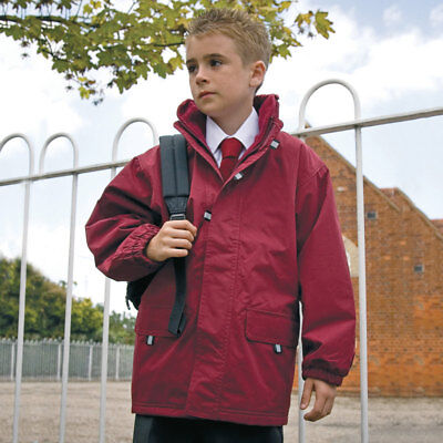 Result R150J Rugged Stuff Junior/Youth Kids Long Lined StormDri Long Coat Jacket