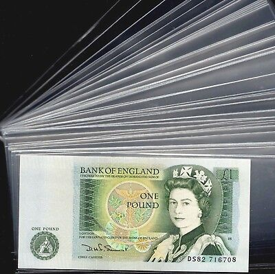 Lot 100 Clear Plastic Banknote Sleeves Size 7cm X 15cm