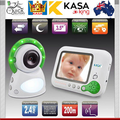 "Wireless Baby Monitor Video 3.5"" Screen Secure, 200m Range, 2.4GHz NEW"