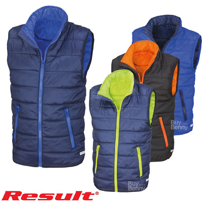 Result Padded Bodywarmer Winter Warm Gilet Sleeveless Jacket Kids Boys Girls New