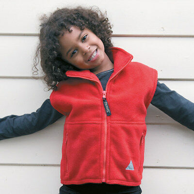 Result RE37J Junior PolarTherm Bodywarmer Kids Heavy Active Fleece Half Jackets