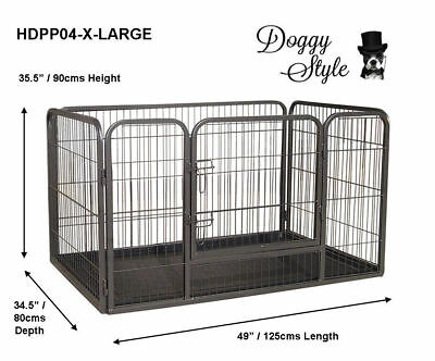 Heavy Duty Puppy Play Pen Whelping Box 4 x Sizes / Dog Enclosure / Playpens / DS