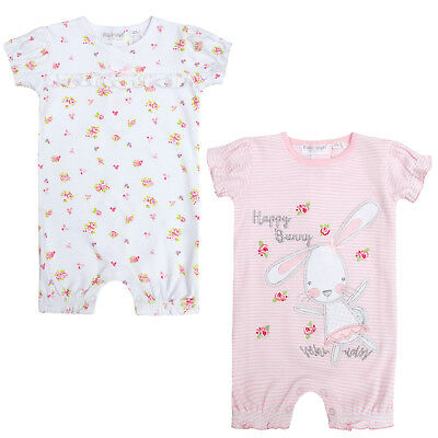Baby Girls Body Suit Short Summer Romper Outfit Playsuit Cute Bunny Floral Size