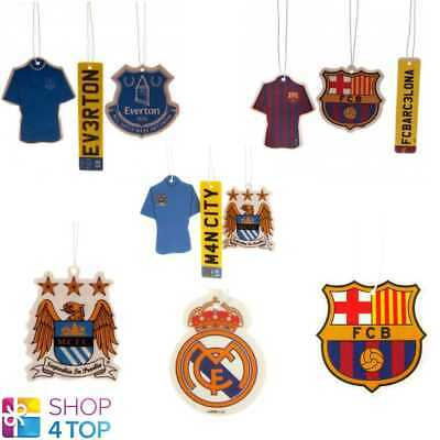 Official Football Team Club Crest Car Air Freshener Set Scent Hanging New