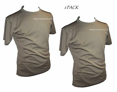 British Army - Pack Of 2 Mtp Self Wicking T Shirts - Used - Various Sizes