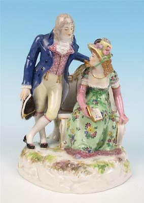 Antique Meissen Porcelain Group Figurine 183 Gentleman Caller Goesch 1st German