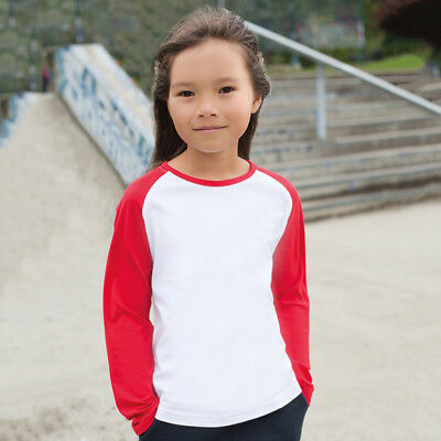 SF Mini SM271 Kids Long Sleeves Baseball Tee T-shirt Skin Fit Sports Wear Tshirt
