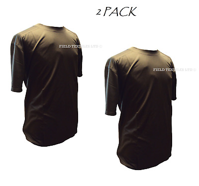 British Army - Pack Of 2 Brown Self Wicking T Shirts - Used - Various Sizes