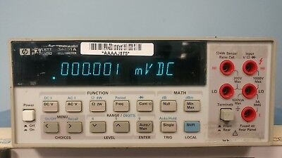 HP Agilent Keysight 34401A Digital Multimeter, 6.5-Digit
