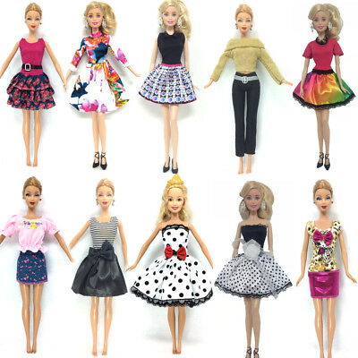 10 Set Princess Dress Noble Party Gown For Barbie Doll Outfit Clothes Best Gift