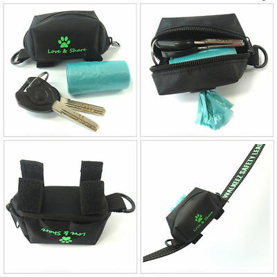 Pet Walking Dispenser Waste Dog Poo Puppy Pick-Up Bag Poop Bag Holder Hook Pouch