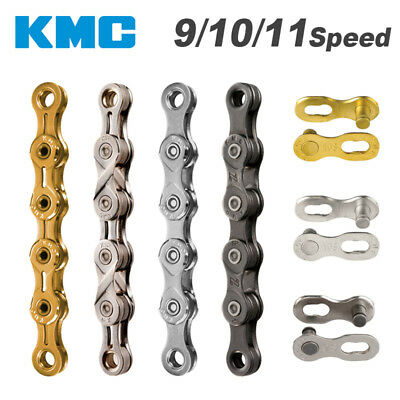 116 links Gold for ROAD//MTB VH88 10 speed KMC X10SL Bike Chain
