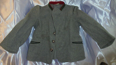 SUPER 1940's Vintage Childs  Boy Clothes Wool Coat-Great For Boy Doll