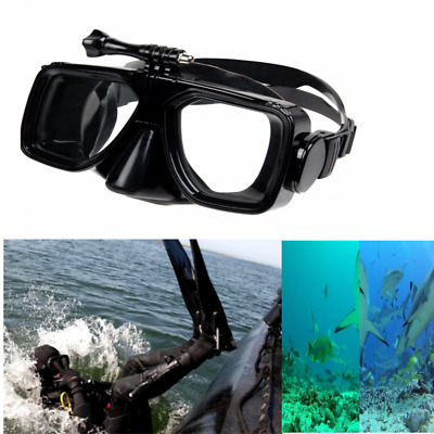 Kitvision Submerge Underwater Scuba Mask With Action Camera Mount in Black