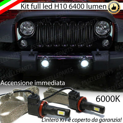 Kit Full Led Jeep Wrangler 3 Lampade H10 Fendinebbia Canbus 6400L 6000K No Error