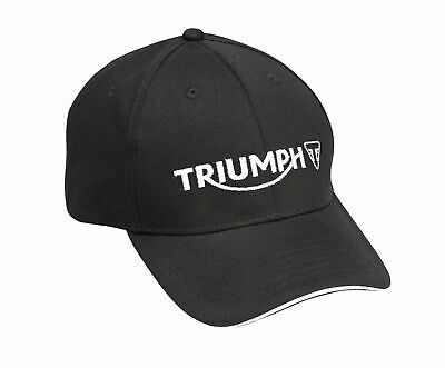 Genuine Triumph Merchandise - Triumph Logo Cap In Black Baseball Cap White Logo