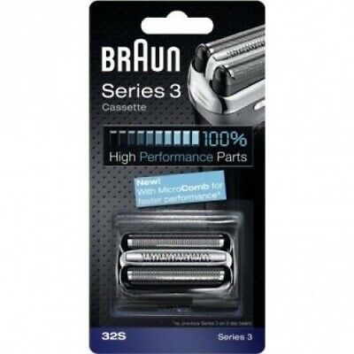 Braun 32S Series 3, Electric Shaver Replacement Foil and Cutter Cassette SILVER