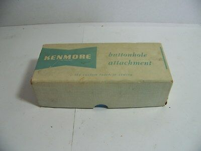 Vintage Kenmore Buttonhole Attatchment In Original Box With Manual And Cams