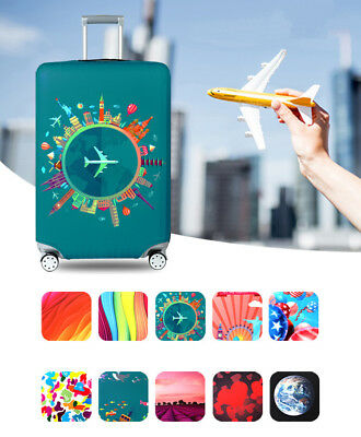 """18"""" ~32"""" Elastic Travel Luggage Suitcase Dust Cover Thicker Protector Skin Case"""