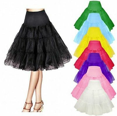 Retro Underskirt/50s Swing Vintage Petticoat/Rockabilly*Tutu/Fancy Net Skirt 26""