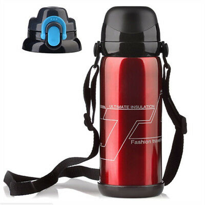 800mL Flask Vacuum Insulated Stainless Steel Water Bottle Thermos Travel Carry