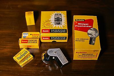 Lot of Vintage KODAK Flashes and Accessories - Great to MINT Condition***