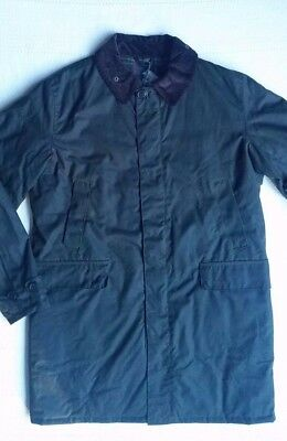 Barbour Nairn Men's Waxed-Cotton Insulated  Jacket - Olive, Size Large