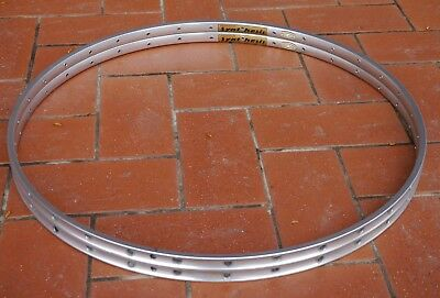 NOS Ambrosio Synthesis 700c (622 mm) 32H tubular vintage road bike rims - PAIR