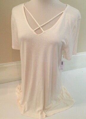 Old Navy Cream Cross-Strap Inverted V-Neck Top Size Medium M - New With Tags!