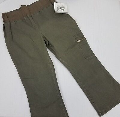 Bundle of Joy Maternity Pants Size Small Cargo Green Sage Pockets Pull On