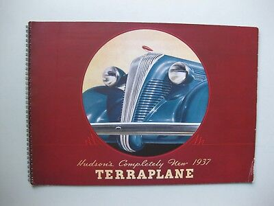Hudson Terraplane prestige brochure Prospekt English text 1937 34 pages