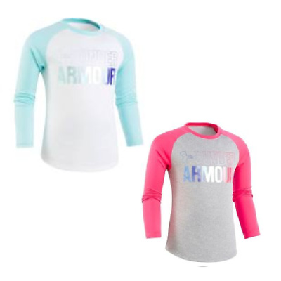 NEW - Under Armour Girls Wordmark Gradient Long-Sleeve Shirt - Pick Size & Color