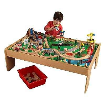 MOUNTAIN TRAIN TRACK Set Maxim Wood Trains/Tunnel Fits Brio Thomas ...