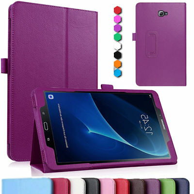 """Samsung Galaxy Tab A 10.1"""" (2016) T580 T585 Leather Stand Slim Smart Case Cover"""