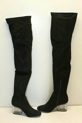 fcfc36c67f6 STEVE MADDEN ORLENE Black Over The Knee Hi Boot Women Size 6 $130 ...